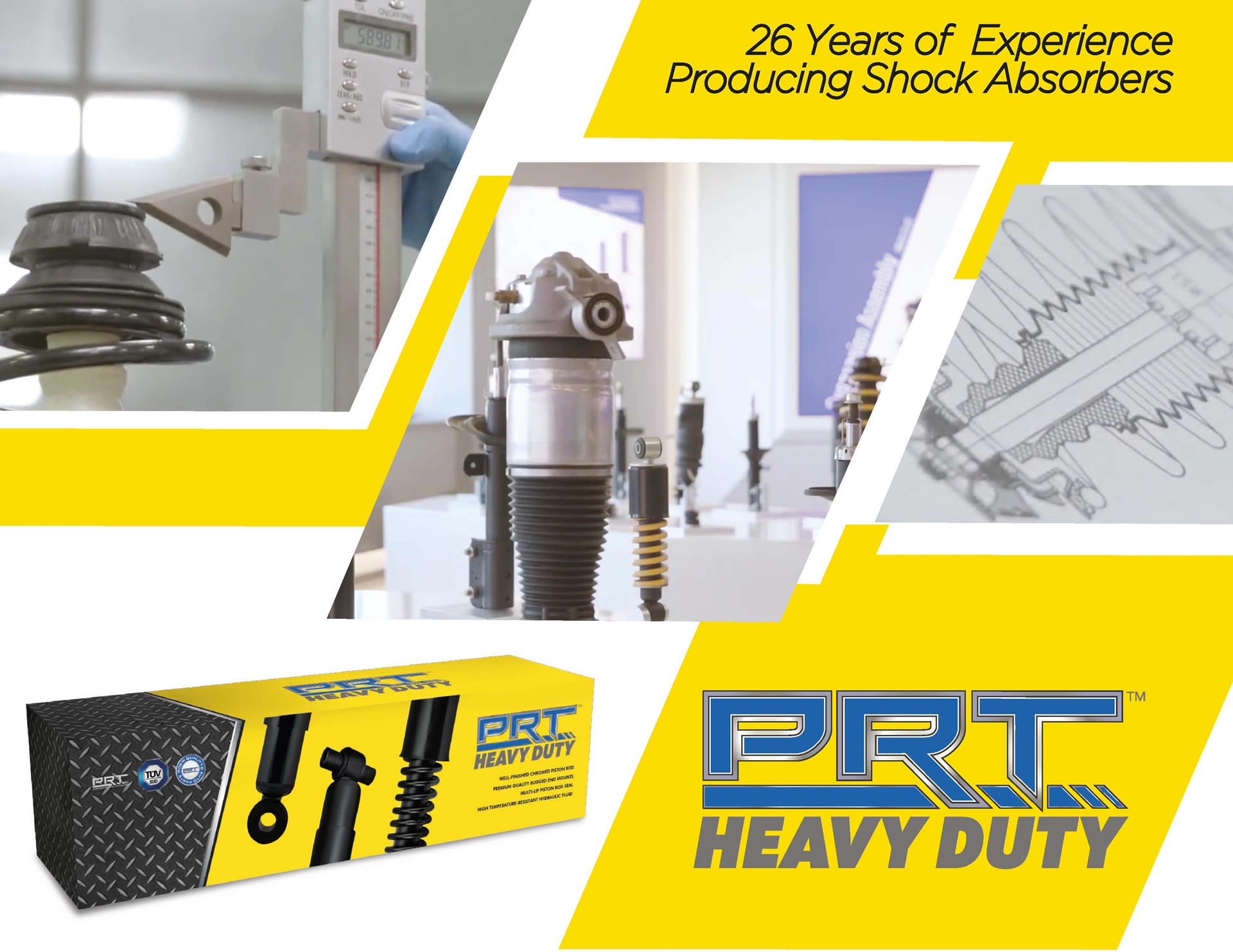 prt shocks and stuts for commercial use