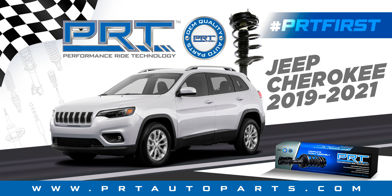 PRT is first to market on Complete Strut Assemblies for Jeep Cherokee 2019-2021